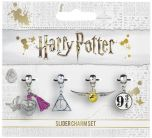 Harry Potter Golden Snitch/Deathly Hallows/Love Potion/Platform 9 3/4 Slider Charm Set HP0070