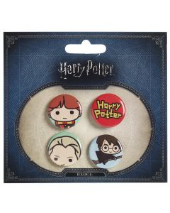 Harry Potter Chibi Button Badge Set- BBC0091-BLU