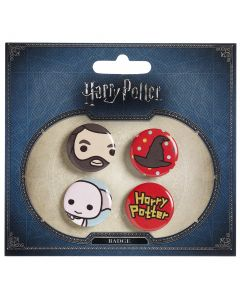 Harry Potter Chibi Button Badge Set-BBC0092-BLU