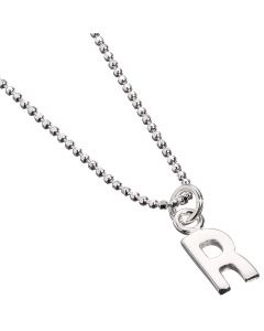 Sterling Silver Necklace with Initial R Charm