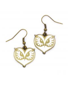 Fantastic Beasts Owl Face Earrings FE0008