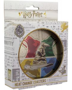 Harry Potter Sorting Hat Heat Changing Coaster Set