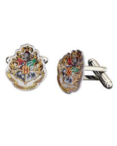 Harry Potter Hogwarts Crest Cufflinks in Blue packaging-HC0026-BLU