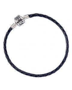 Harry Potter Black Leather Bracelet for Slider Charms Medium- HP0029-19