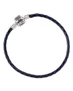 Harry Potter Black Leather Bracelet for Slider Charms Small- HP0029-18