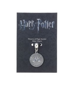 SPECIAL OFFER DISCONTINUED OLD BLACK PACKAGING AND GREY METAL Harry Potter Ministry of Magic Symbol Slider Charm HP0036-BLK