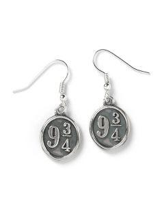 Official Sterling Silver Harry Potter Platform 9 3/4 Drop Earrings HE0011
