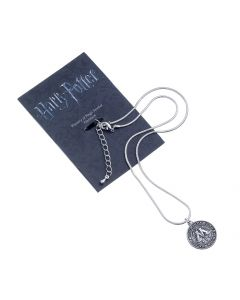 SPECIAL OFFER DISCONTINUED BLACK PACKAGING AND GREY METAL Harry Potter Ministry of Magic Symbol Necklace WN0036-BLK-DULL