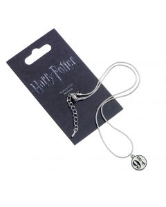 SPECIAL OFFER DISCONTINUED BLACK PACKAGING AND GREY METAL Harry Potter Platform 9 3/4 Necklace - WN0011-BLK