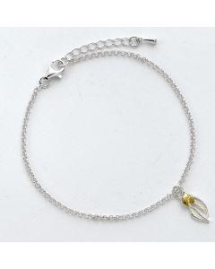 Harry Potter Sterling Silver Golden Snitch BraceletSCB004