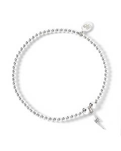 Harry Potter Sterling Silver Ball bead Bracelet & lightning bolt charm with Swarovski Crystal Elements