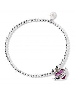 Harry Potter Sterling Silver Ball Bead Bracelet & Love potion Charm with Swarovski Crystal Elements HPSB053