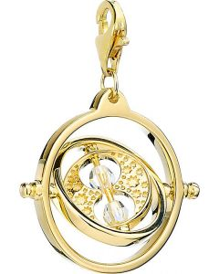 Official Harry Potter Gold Plated Time Turner Clip on Charm with Swarovski Crystal Elements - HPSC021-G