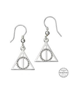 Harry Potter Embellished with Swarovski® Crystals Deathly Hallows Earrings HPSE002