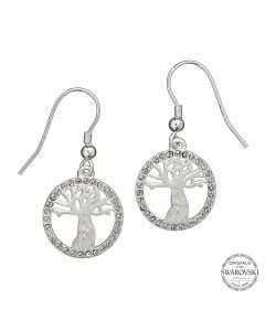 Harry Potter Embellished with Swarovski® Crystals Whomping Willow Earrings HPSE003