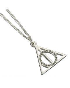 Harry Potter Embellished with Swarovski® Crystals Deathly Hallows Necklace - HPSN002