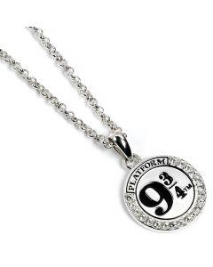 Official Harry Potter Sterling Silver Platform 9 3/4 Necklace Embellished with Swarovski® Crystals