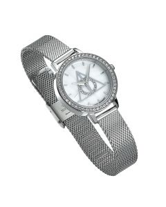Harry Potter Deathly Hallows Silver Watch Embellished with Swarovski Crystals- HPSW054