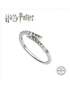 Harry Potter Embellished with Swarovski® Crystals Lightning Bolt Ring Medium (size M)- HPSR001-M
