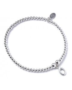 Sterling Silver Ball Bead Bracelet with 'O' Initial - RB017