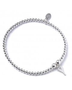 Sterling Silver Ball Bead Bracelet  with 'Y' Initial - RB017