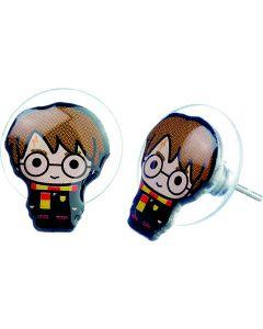 Harry Potter Chibi Stud Earrings on blue packaging-WEC082-BLU