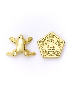 Official Harry Potter Chocolate Frog & Box Gold Plated Stud Earrings WES0157