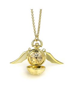 Golden Snitch Watch Necklace- WNTP004