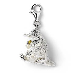 Sterling Silver Niffler Clip-on-Charm Embellished With Swarovski Crystals-FBC0028