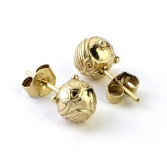 Official Harry Potter Golden Snitch Stud Earrings EE004