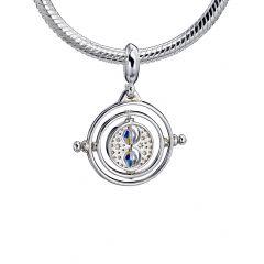 Harry Potter Sterling Silver Time Turner slider charm with Swarovski Crystal Elements - HPSC021-SC