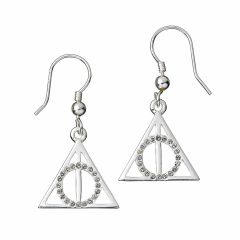 Harry Potter Deathly Hallows Drop Earrings with Crystal Elements - HPSE002