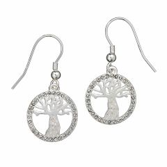 Harry Potter Whomping Willow Drop Earrings with Crystal Elements - HPSE003
