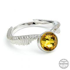 Harry Potter Golden Snitch Ring with Swarovski® Crystal Elements Medium size 7 (Ring size O)- HPSR004-M