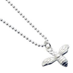 Sterling Silver Necklace with Bumble Bee Charm