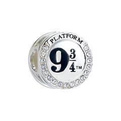 Official Harry Potter Sterling Silver Platform 9 3/4 Spacer Bead with Swarovski Crystal Elements - SB0011