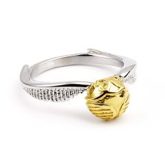 Official Harry Potter Stainless Steel Golden Snitch Ring Medium- SSR0004-M