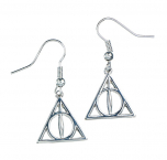 OFFICIAL Sterling Silver Harry Potter Deathly Hallows Earrings HE0054