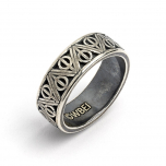 Official Harry Potter Sterling Silver Deathly Hallows Ring Medium (Size M)- RR0054-M