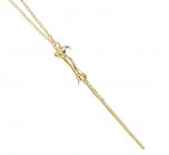 9ct Gold Lord Voldemort Wand Necklace