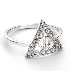 Official Harry Potter Sterling Silver Deathly Hallows Ring Size Medium  BHPSR002-M