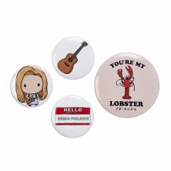 Official Friends Phoebe Button Badge Set FTB0009