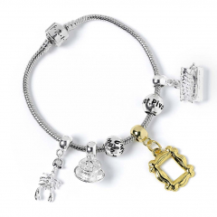 Official Friends Silver Plated Charm Bracelet with 4 charms FTB0020