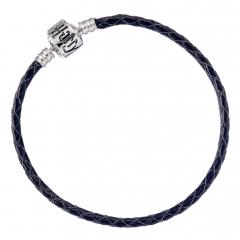 Harry Potter Black Leather Bracelet for Slider Charms- HP0029-21