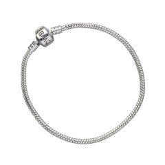Looney Tunes Silver Charm Bracelet for Slider Charms Extra Small (17cm) - LTB008-XS