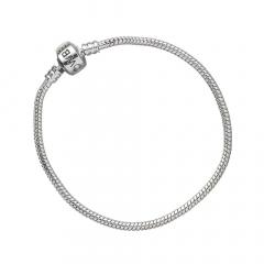 Looney Tunes Silver Charm Bracelet for Slider Charms Medium (19cm) - LTB008-M
