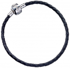 Harry Potter Black Leather Charm Bracelet for Slider Charms 17cm - HP0029