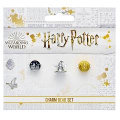 Official Harry Potter Set of 3 Spacer Beads - Hogwarts Castle, Sorting Hat, & Time Turner HPB0001