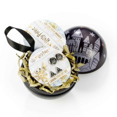 Official Harry Potter Hogwarts Castle with Earring Set Christmas Bauble HPCB0179