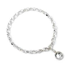 Harry Potter Charm Bracelet Embellished with Crystals Tag- HPSB022